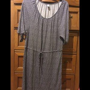 Old Navy blue drawstring flower patterned dress